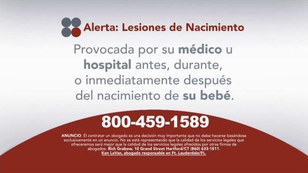Pulaski Law Firm >> Sokolove Law TV Commercial, 'Lesiones de Nacimiento' - iSpot.tv