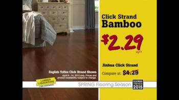 Lumber Liquidators TV Spot, 'Click Strand Bamboo' - Thumbnail 6