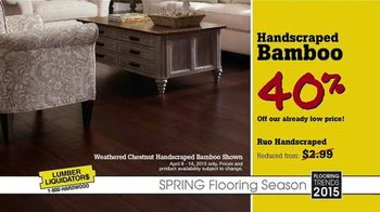 Lumber Liquidators Spring Flooring Season TV Spot, 'Handscraped Bamboo'