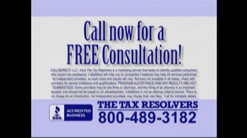 The Tax Resolvers TV Spot - Thumbnail 10