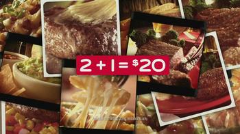 Chili's 2+1 = $20 TV Spot, 'Juicy Sirloin Steaks' - Thumbnail 10