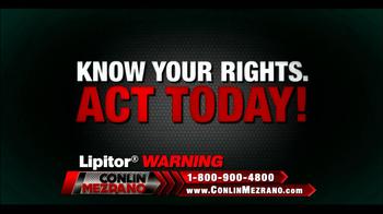 Conlin Mezrano Injury Lawyers TV Spot, 'Lipitor Warning' - Thumbnail 5