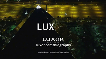 Luxor Hotel And Casino Las Vegas TV Spot, 'Biography' - Thumbnail 7
