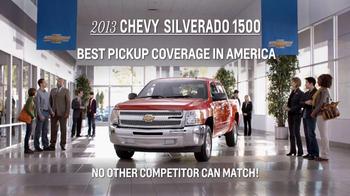 2013 Chevrolet Silverado 1500 TV Spot, 'Best Pickup Coverage' - Thumbnail 8