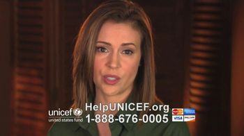 UNICEF TV Spot, 'What Would You Do?' Featuring Alyssa Milano