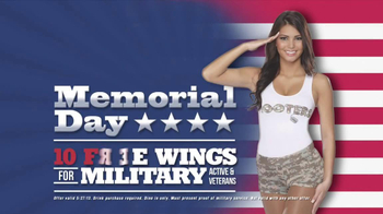 Hooters Memorial Day 10 Free Wings for Military Personnel TV Spot - Thumbnail 9