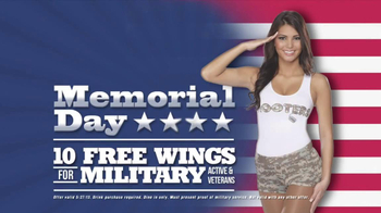 Hooters Memorial Day 10 Free Wings for Military Personnel TV Spot - Thumbnail 8