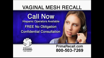 Prima Law Group TV Spot, 'Vaginal Mesh Recall' - Thumbnail 4