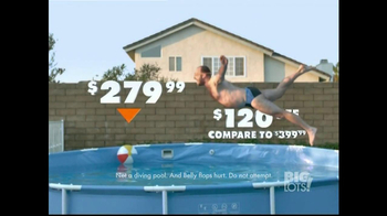 Big Lots TV Spot, 'Belly Flop'