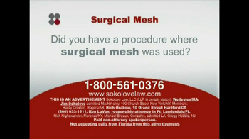 Sokolove Law TV Spot, 'Surgical Mesh' - Thumbnail 2