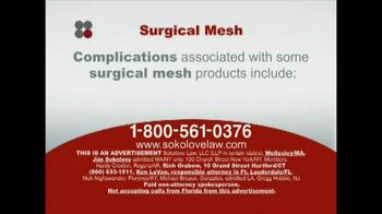 Sokolove Law TV Spot, 'Surgical Mesh' - Thumbnail 3