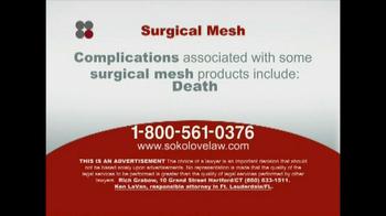 Sokolove Law TV Spot, 'Surgical Mesh' - Thumbnail 5