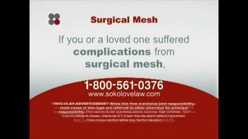 Sokolove Law TV Spot, 'Surgical Mesh' - Thumbnail 6