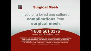 Sokolove Law TV Spot, 'Surgical Mesh' - Thumbnail 7