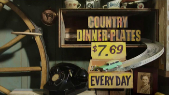 Cracker Barrel Country Dinner Plates TV Spot - Thumbnail 7