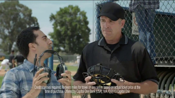Capital One Venture Card TV Spot, 'Baseball Banter: Hey Ump' - Thumbnail 9