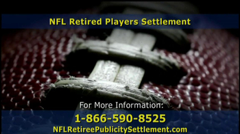 Retired NFL Players Class Publicity Rights Settlement TV Spot - Thumbnail 8