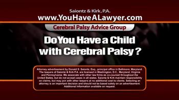 Saiontz & Kirk, P.A. TV Spot, 'Cerebral Palsy'