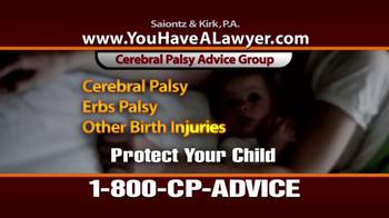 Saiontz & Kirk, P.A. TV Spot, 'Cerebral Palsy' - Thumbnail 9