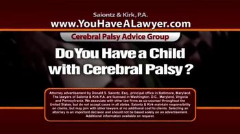 Saiontz & Kirk, P.A. TV Spot, 'Cerebral Palsy' - Thumbnail 2