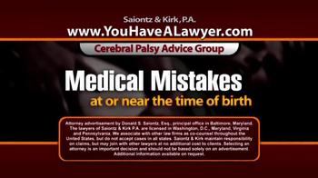 Saiontz & Kirk, P.A. TV Spot, 'Cerebral Palsy' - Thumbnail 3