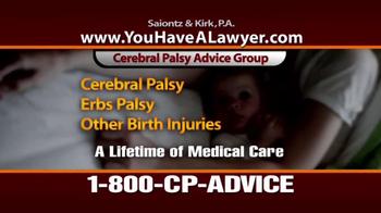 Saiontz & Kirk, P.A. TV Spot, 'Cerebral Palsy' - Thumbnail 5