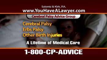 Saiontz & Kirk, P.A. TV Spot, 'Cerebral Palsy' - Thumbnail 6