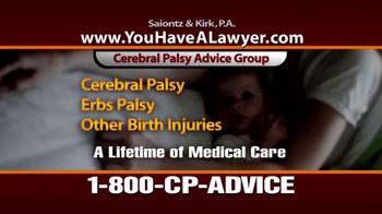 Saiontz & Kirk, P.A. TV Spot, 'Cerebral Palsy' - Thumbnail 7