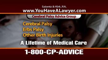 Saiontz & Kirk, P.A. TV Spot, 'Cerebral Palsy' - Thumbnail 8
