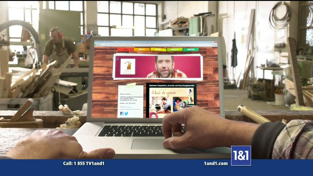 1&1 My Website TV Commercial, 'Business Website'