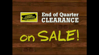 Lumber Liquidators End of Quarter  Clearance Sale TV Spot - Thumbnail 3
