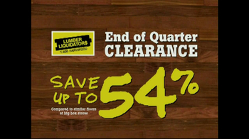 Lumber Liquidators End of Quarter  Clearance Sale TV Spot - Thumbnail 4