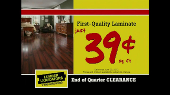 Lumber Liquidators End of Quarter  Clearance Sale TV Spot - Thumbnail 5