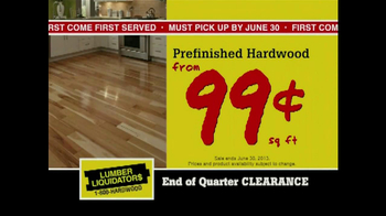 Lumber Liquidators End of Quarter  Clearance Sale TV Spot - Thumbnail 6