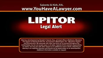 Saiontz & Kirk, P.A. TV Spot, 'Lipitor' - Thumbnail 1