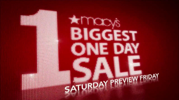 Macy's Biggest One Day Sale TV Spot - Thumbnail 2