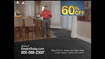 Empire Today 60% Off Sale TV Spot - Thumbnail 6
