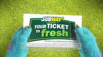 Subway TV Spot, 'Monsters University: Getting In' - Thumbnail 3