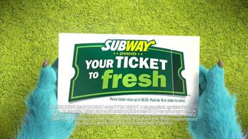Subway TV Spot, 'Monsters University: Getting In' - Thumbnail 4