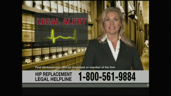 Weitz and Luxenberg TV Spot, 'Hip Replacement Legal Helpline' - Thumbnail 1