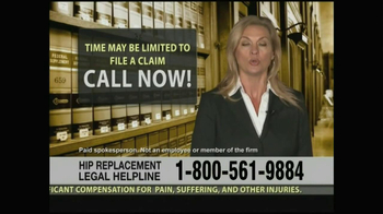 Weitz and Luxenberg TV Spot, 'Hip Replacement Legal Helpline' - Thumbnail 10