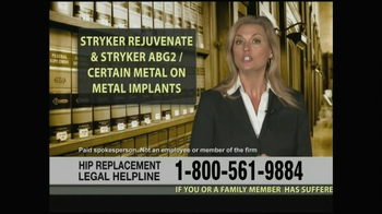 Weitz and Luxenberg TV Spot, 'Hip Replacement Legal Helpline' - Thumbnail 2