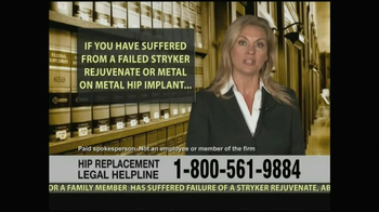 Weitz and Luxenberg TV Spot, 'Hip Replacement Legal Helpline' - Thumbnail 3