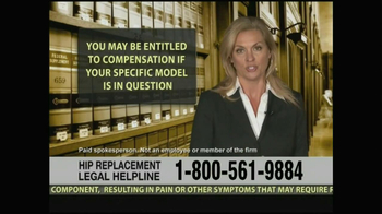 Weitz and Luxenberg TV Spot, 'Hip Replacement Legal Helpline' - Thumbnail 6