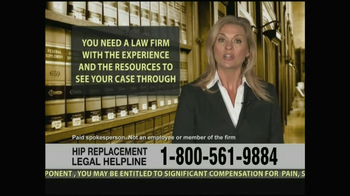 Weitz and Luxenberg TV Spot, 'Hip Replacement Legal Helpline' - Thumbnail 9