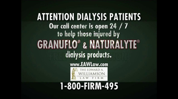 The Edward A. Williamson Law Firm TV Spot, 'Dialysis' - Thumbnail 5