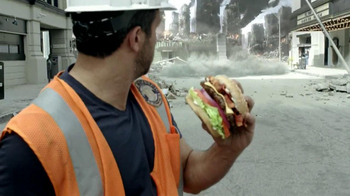 Carl's Jr. Super Bacon Cheeseburger TV Spot, 'Man of Steel' - Thumbnail 3