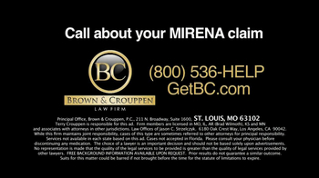 Brown & Crouppen, P.C. TV Spot, 'Mirena Medical Problems' - Thumbnail 10