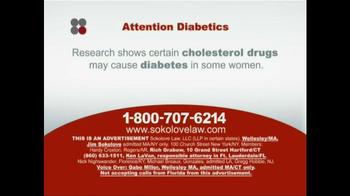 Sokolove Law TV Spot, 'Diabetes' - Thumbnail 1