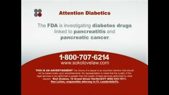 Sokolove Law TV Spot, 'Diabetes' - Thumbnail 3